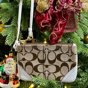 Coach Signature Mini Wristlet